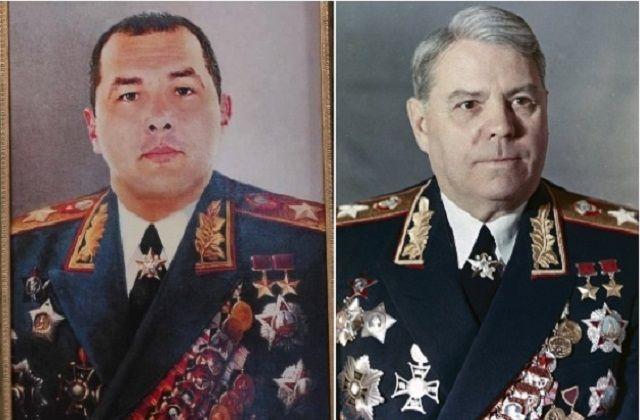 У сотрудника ГИБДД г. Таганрога при обыске в квартире нашли его портрет в форме маршала СССР Александра Василевского.