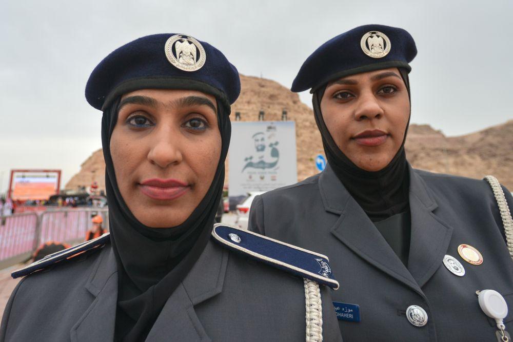Сотрудницы полиции Абу-Даби (ОАЭ)