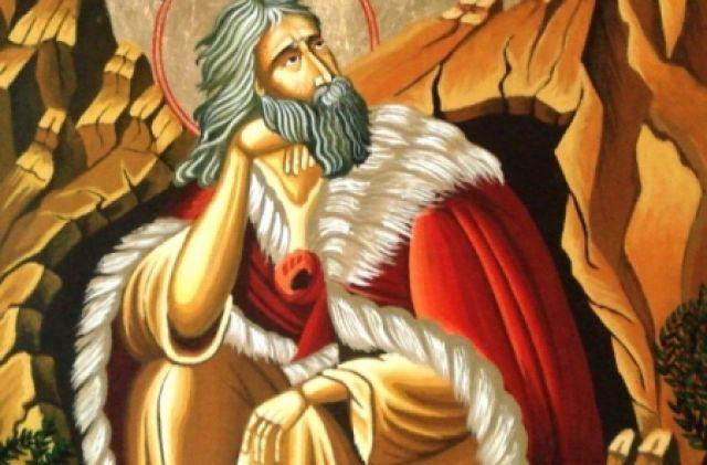 Иконографическое изображение Ильи Пророка.