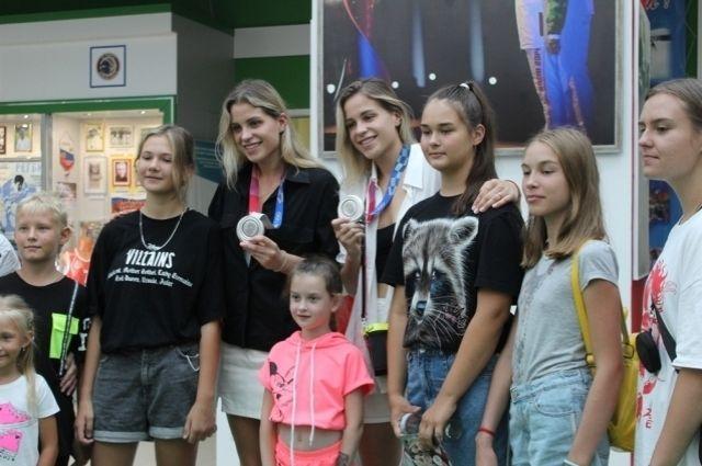 Ольга и Евгения Фролкины посетили Музей спорта Пензенской области.