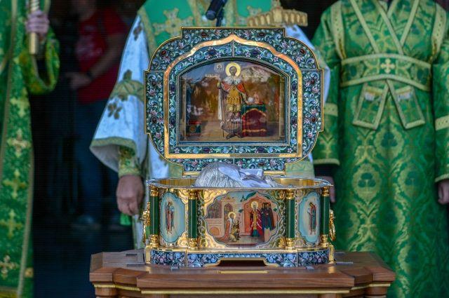 В Оренбург прибудет икона с мощами святого князя Александра Невского.