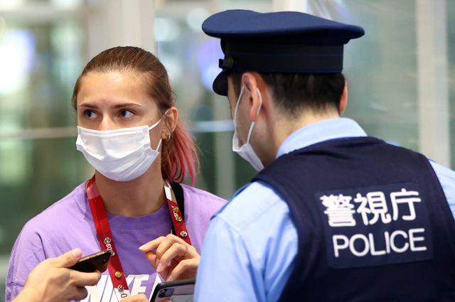 Кристина Тимановская в международном аэропорту Ханэда в Токио.