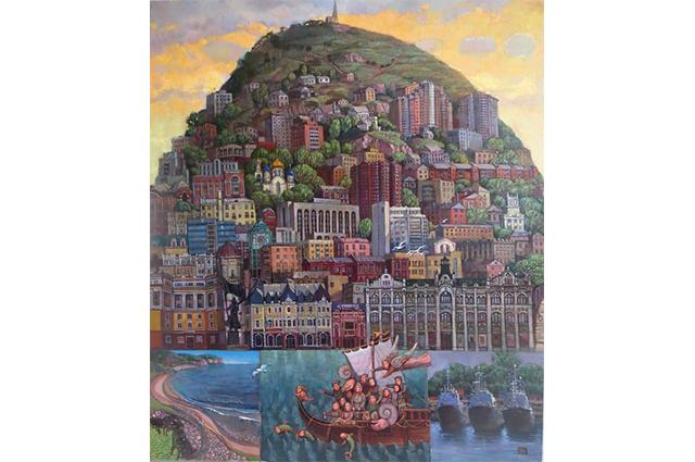 «Остров Владивосток» – одна из знаковых работ Лидии Козьминой.