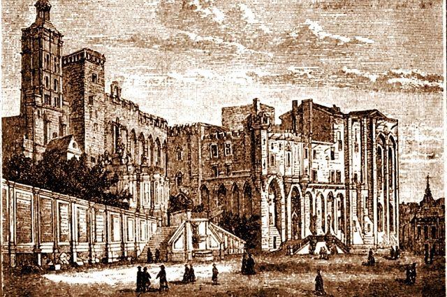 Папский дворец в Авиньоне.