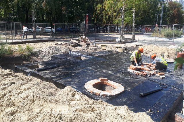 Работы на Народном бульваре близятся к завершению.