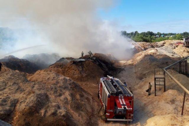 В Уфе произошёл пожар на фанерно-плитном комбинате
