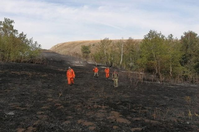 В Оренбуржье ликвидировали пожар в заповеднике «Шайтан-Тау».