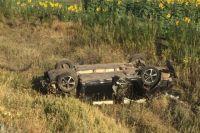 На трассе под Саракташом погиб водитель опрокинувшегося в кювет Volkswagen.