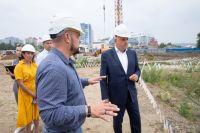 Вся прилегающая к Музейно-театральному комплексу территория будет выполнена в единой архитектурной концепции.