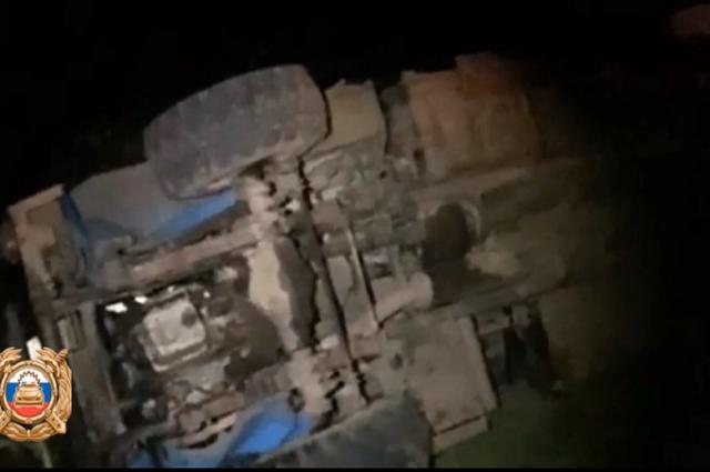 В Башкирии водитель автокрана «Урал» вылетел в кювет и погиб