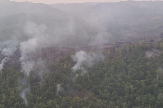 Появилось видео, снятое при осмотре Хабировым лесных пожаров с вертолета