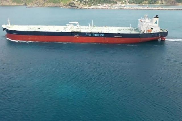 Греческий танкер Minerva Symphony, находящийся под Новороссийском.