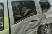 В Оренбурге трхлетний малыш пострадал в столкновении трех автомобилей.