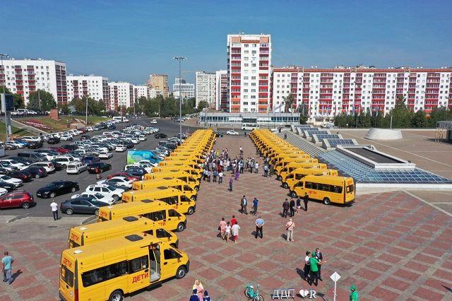 Свыше 40 новых школьных автобусов отправились в районы Башкирии