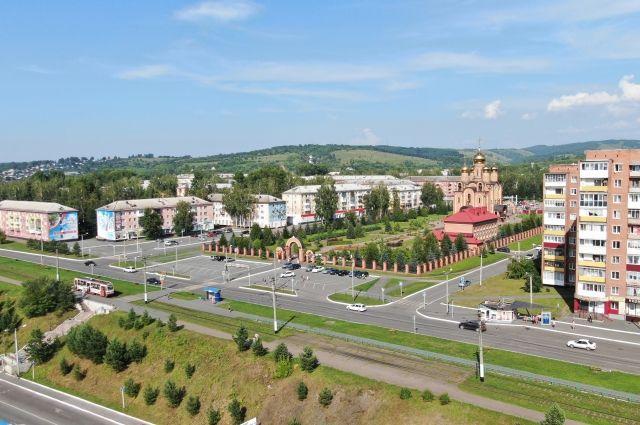 Общий вид на город с высоты птичьего полёта.