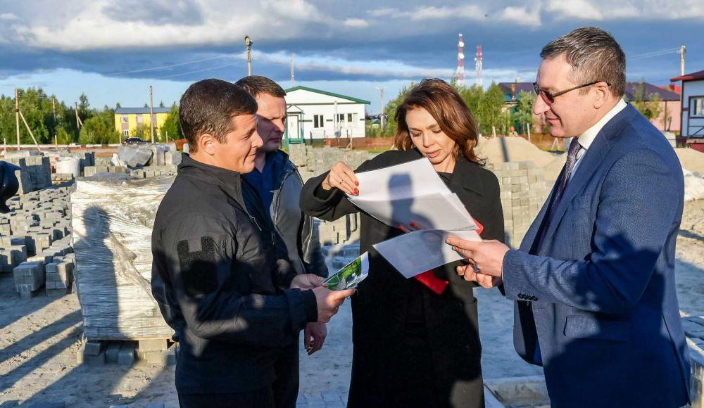 Дмитрий Артюхов посетил поселок Правохеттинский, 2021.