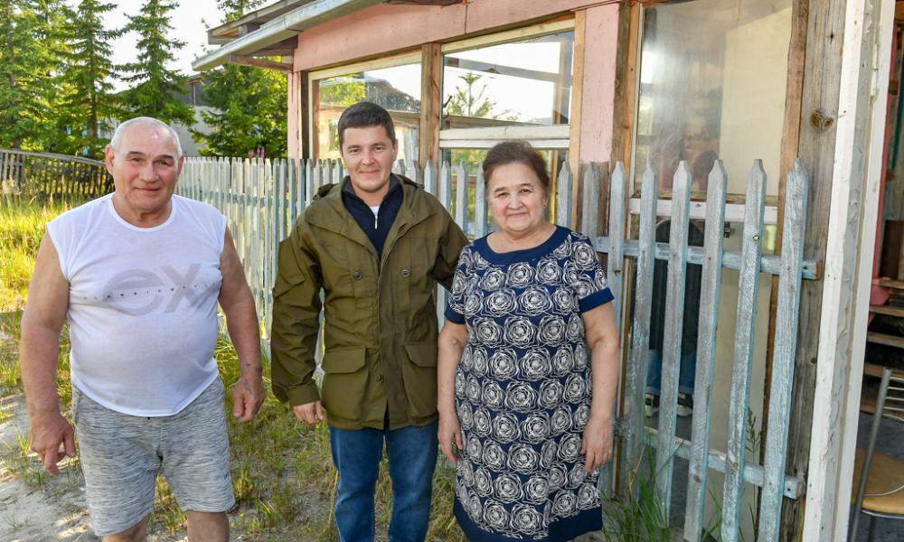 Губернатор Ямала, Владимир и Надежда Веденькины, Коротчаево, 2021.