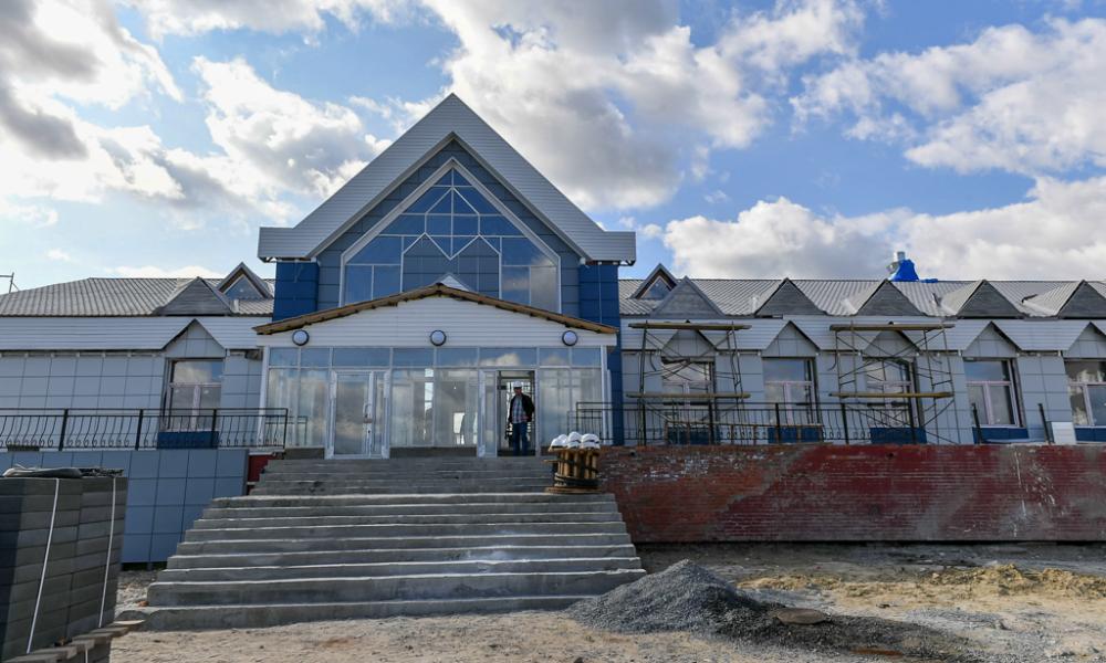 На вокзале ведутся работы, Коротчаево, 2021.