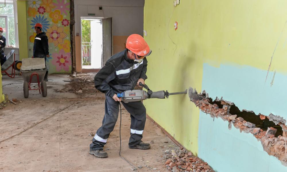 Реконструкция в детском саду «Белоснежка», Лимбяяха, 2021.