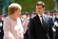 В Киеве началась встреча Зеленского с Меркель.
