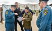 Губернатор на строительной площадке пожарного депо, Коротчаево, 2021.