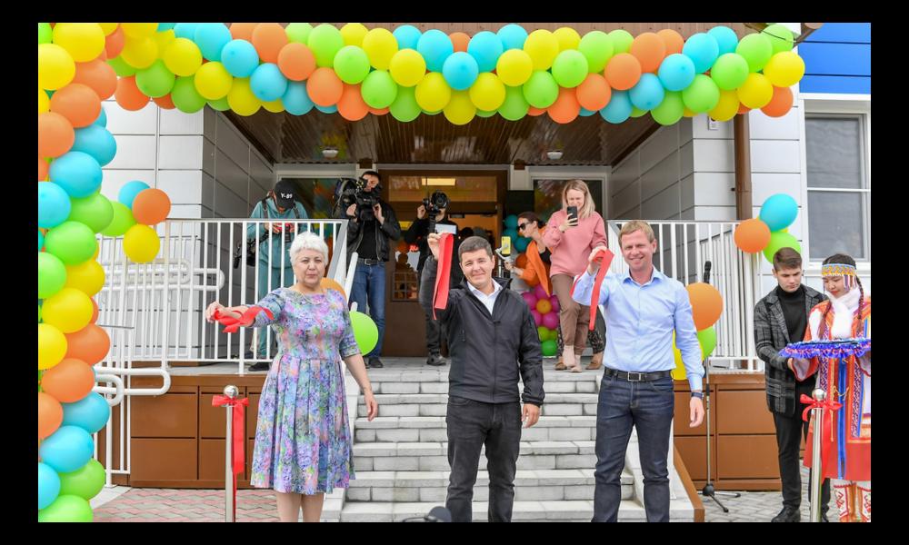 Открытие нового корпуса детского сада «Золотой ключик», Тарко-Сале, 2021.
