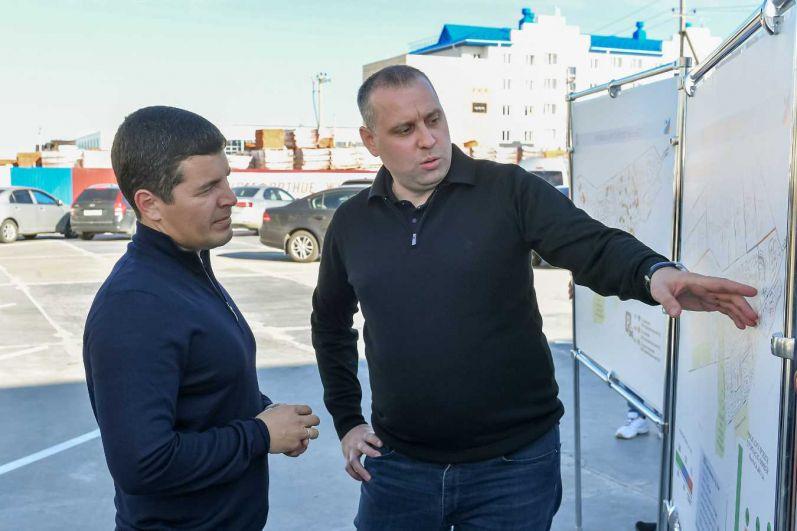 Глава региона посетил новые микрорайоны Губкинского, 2021.