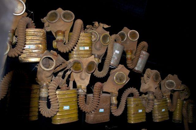 Противогазы отряда 731, Японский музей военных экспериментов, Харбин, провинция Хэйлунцзян, Китай, Азия.