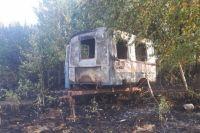 Последствия пожара в Асекеевском районе.
