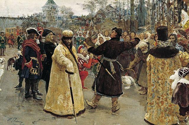 Прибытие царей Петра I и Ивана V. (Два царя). Илья Репин, 1900 г., ГРМ.