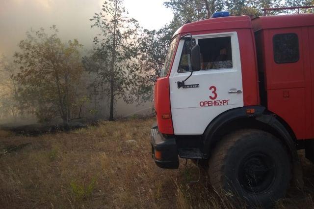 В Оренбургской области пожар локализован на четырех боевых участках.