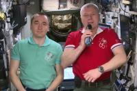 Оренбуржцев с Днем города поздравили российские космонавты.