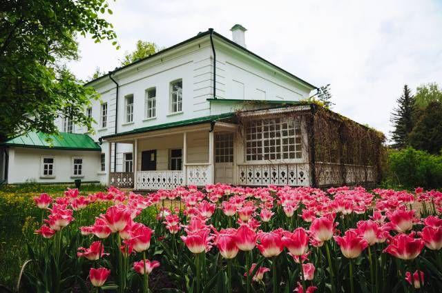 Клумба у дома Льва Толстого.