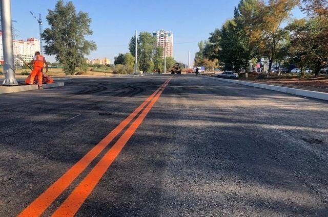 Готовую кольцевую развязку на Рокоссовского в Оренбурге откроют осенью.