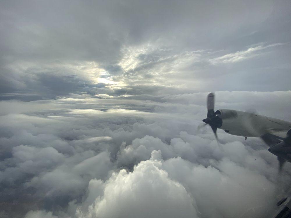 Вид на ураган «Ида»