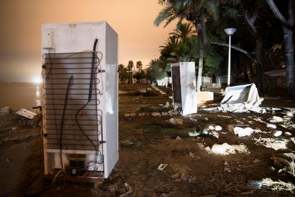 Последствия ливней в Альканаре