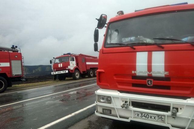 Пожар в Медногорске полностью ликвидирован.