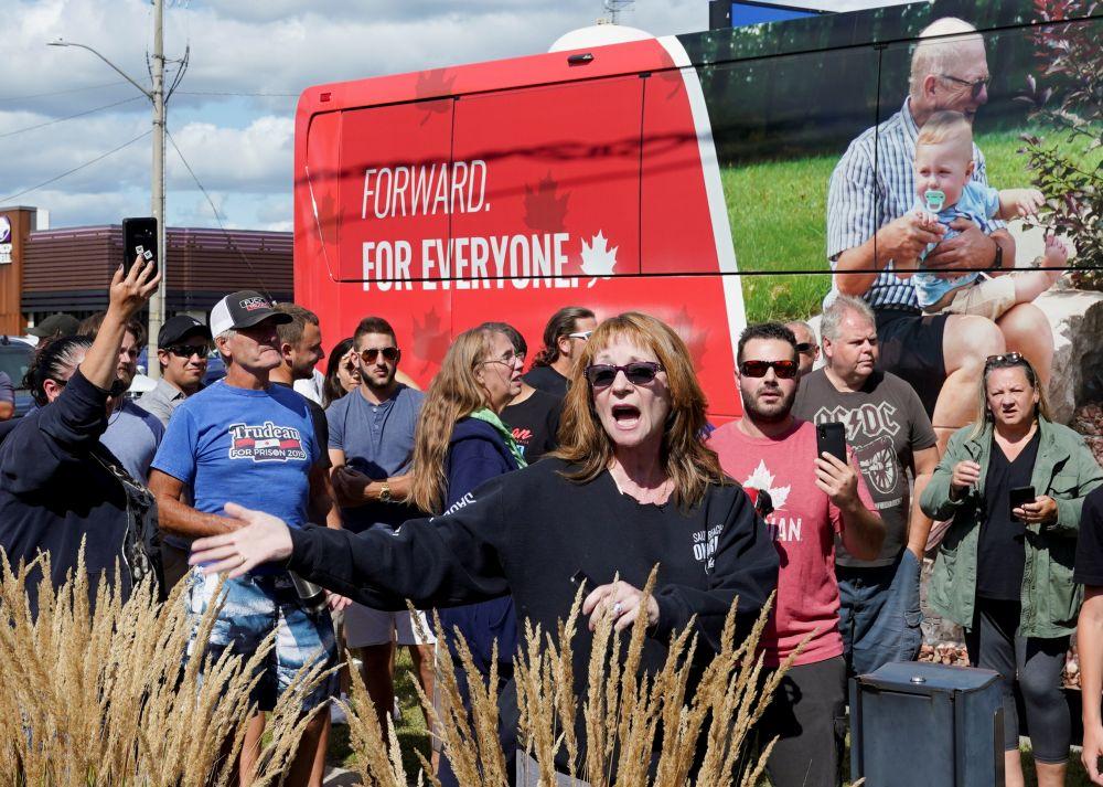Протестующие в Брантфорде