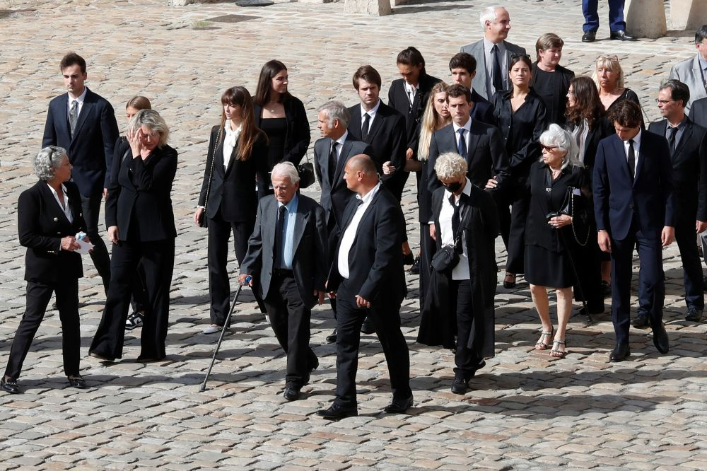 Во время церемонии прощания с Жан-Полем Бельмондо