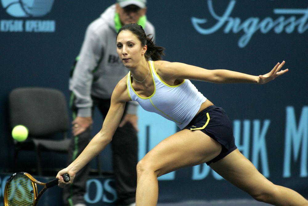 Российская теннисистка Анастасия Мыскина (2005 год). 5 июня 2004 года в Париже Анастасия Мыскина стала победительницей Открытого чемпионата Франции