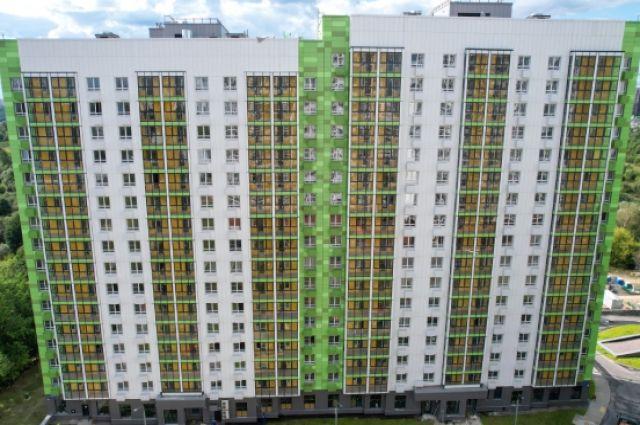 Жилые дома, построенные по программе реновации в районе Северное Тушино, Москва.