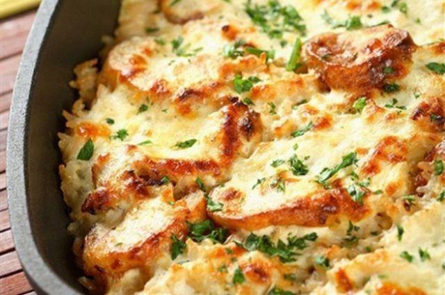 Картофельная запеканка с мясом и грибами: пошаговый рецепт приготовления.