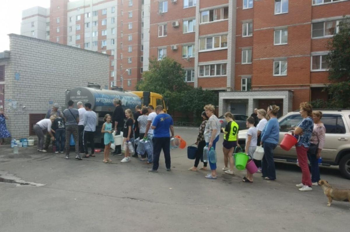 В Левобережном районе Воронежа восстановили подачу воды после аварии