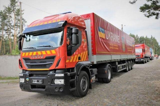 Украина доставила третью гуманитарную помощь Литве.