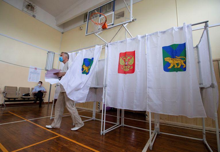 Во время голосования на выборах депутатов Государственной Думы РФ во Владивостоке