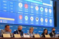 Подведение предварительных итогов голосования навыборах депутатов Госдумы восьмого созыва.