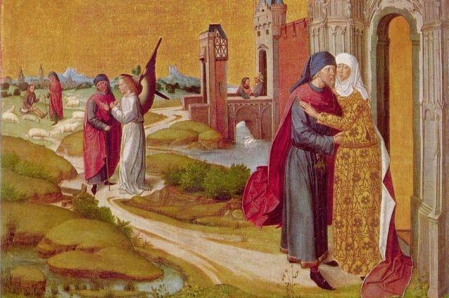 Мастер жития Марии. Целование Иоакима и Анны