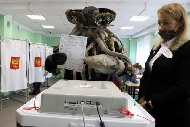 В голосовании принял участи даже осьминог.