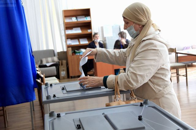 Процесс голосования контролировали наблюдатели.