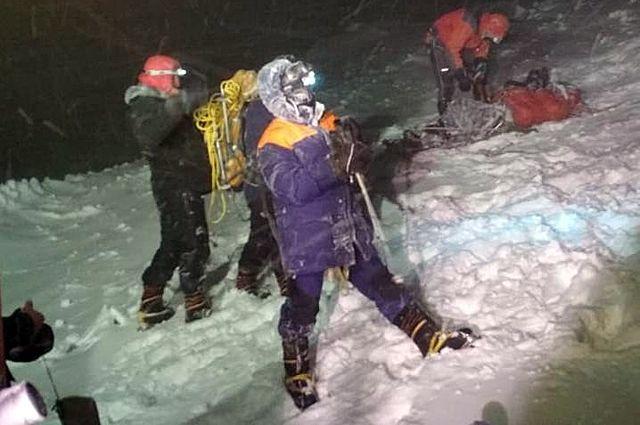 Поисково-спасательные работы на Эльбрусе.